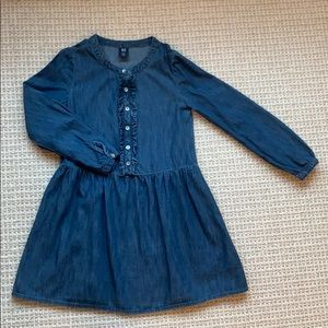 Gap, Kids Ruffle Denim Dress, size S.